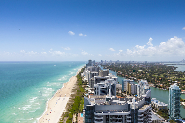 Looking down South beach on a beautiful day