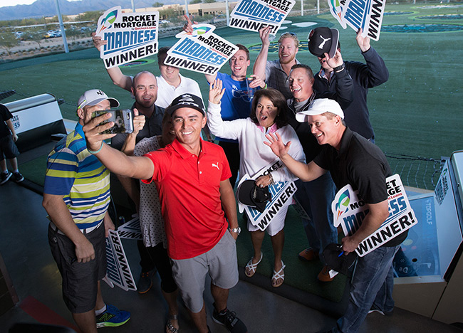 Rickie Fowler Helps Lucky Golfers Win Cash in Rocket Mortgage Madness - Quicken Loans Zing Blog