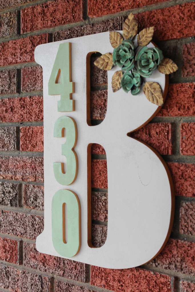 Fun and functional ways to display house address numbers for Diy monogram gifts