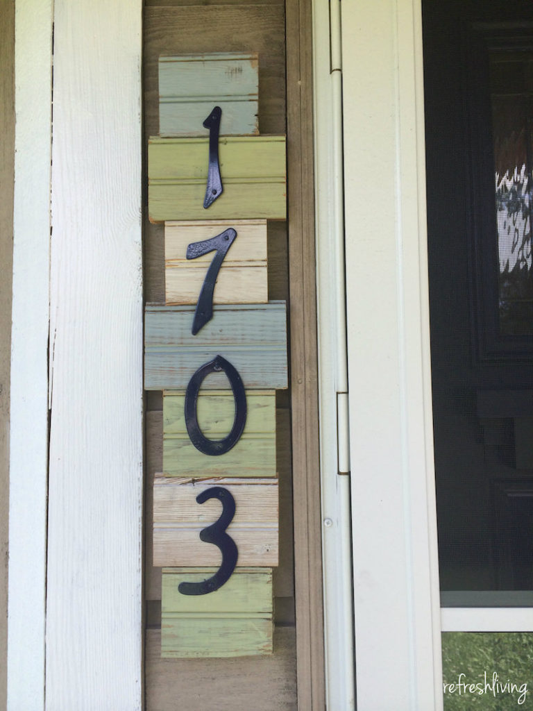 Rustic house numbers
