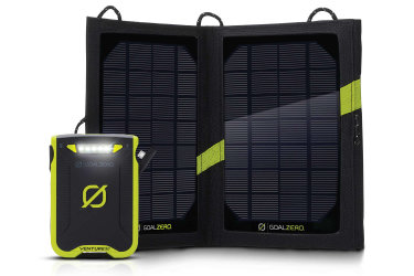 Picture of a solar recharging kit