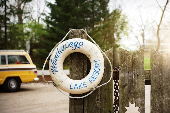 Sign for Wandawega Lake Resort