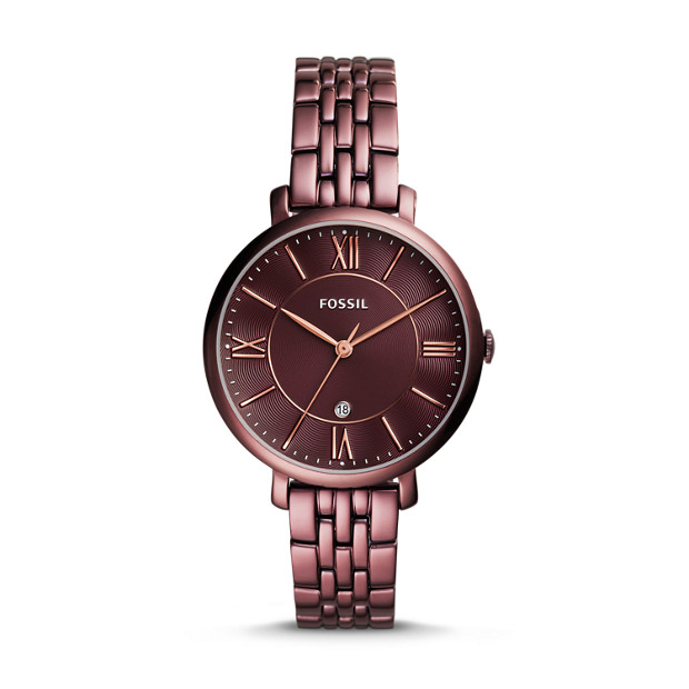 wine colored watch