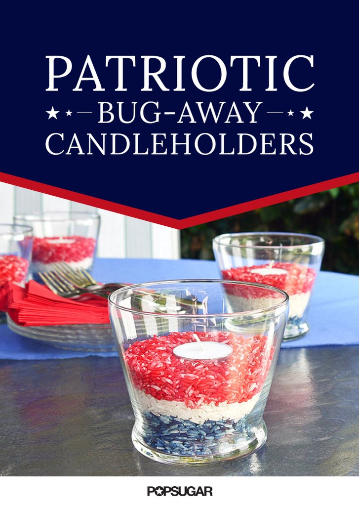 patriotic bug-away candles