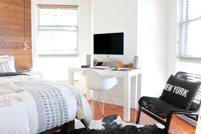 Clean, minimal room