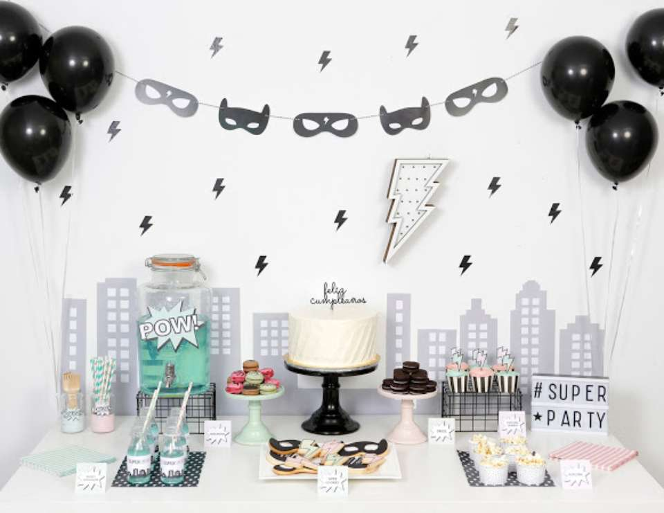 At-home super hero birthday