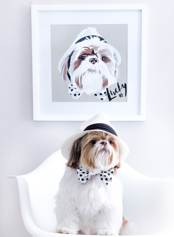 Custom portrait of a pet dog