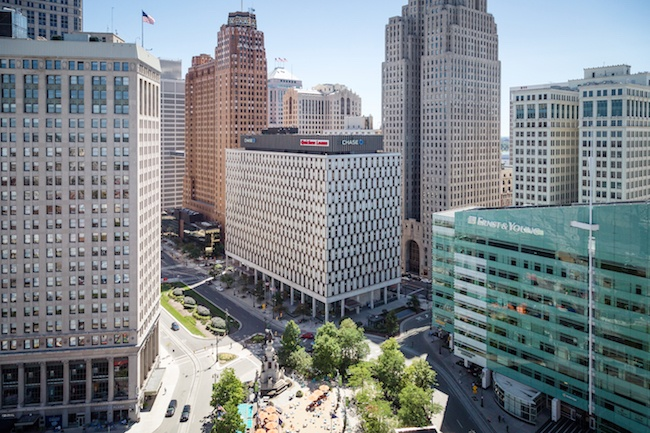 from essay writing to a summer internship zing blog by quicken  high shot of the chase tower in detroit