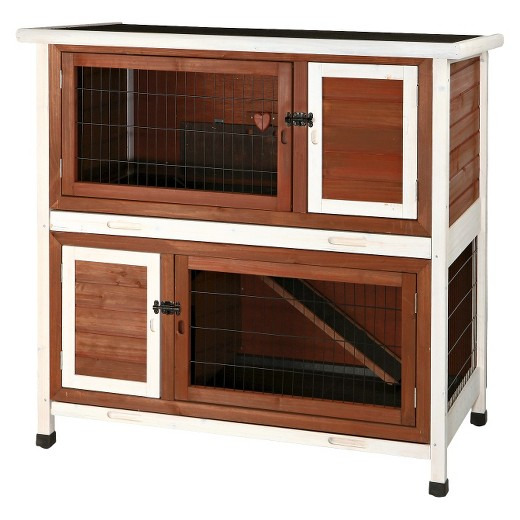 Two-story rabbit hutch