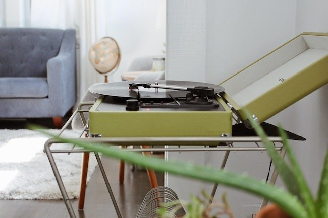 Green Record Player