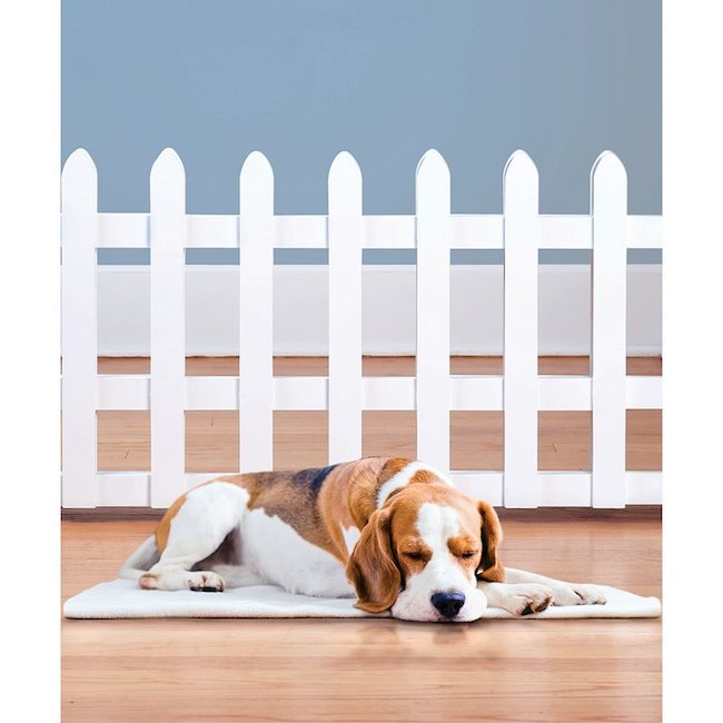 White picket fence pet gate