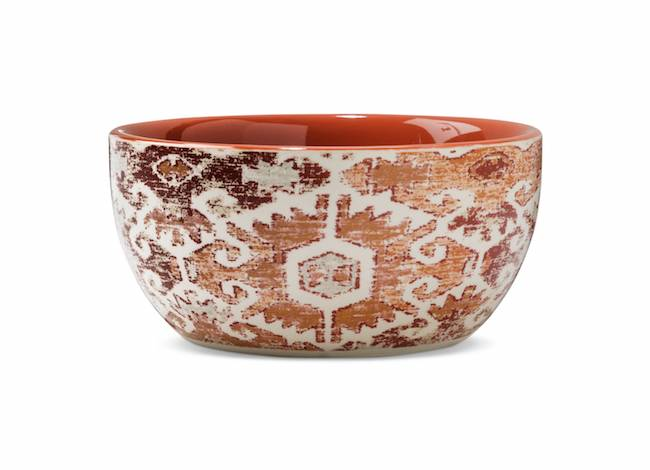 Decorative orange bowl