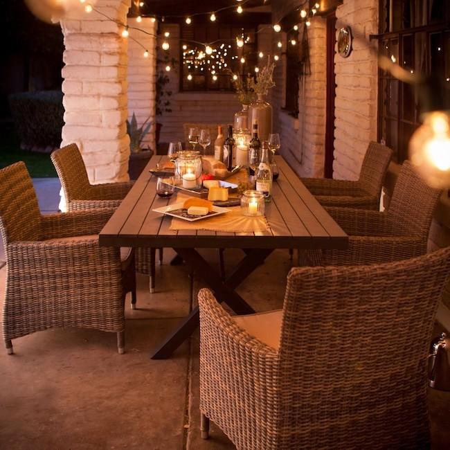 Belham Living Bella All Weather Wicker 7 Piece Patio Dining Set
