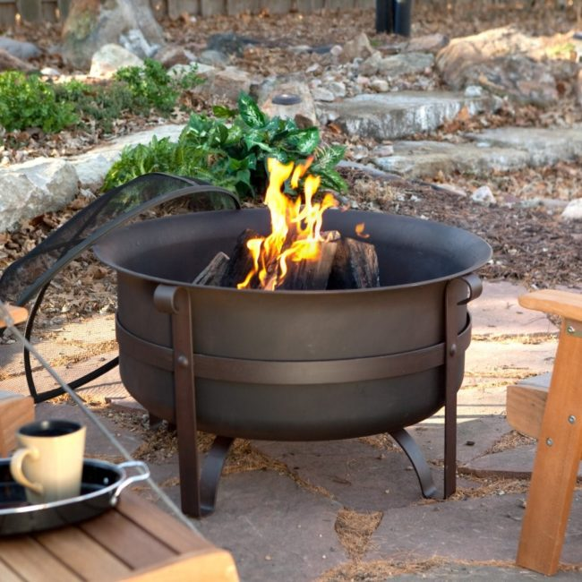 Red Ember Brockton Steel Cauldron Fire Pit with FREE Cover