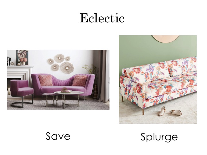 Eclectic sofas