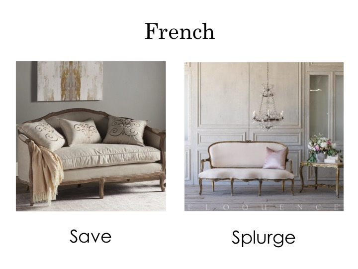 French sofas