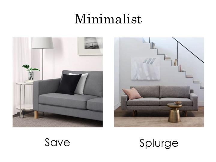 Minimalist sofas