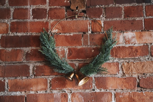 juniper hoop wreath