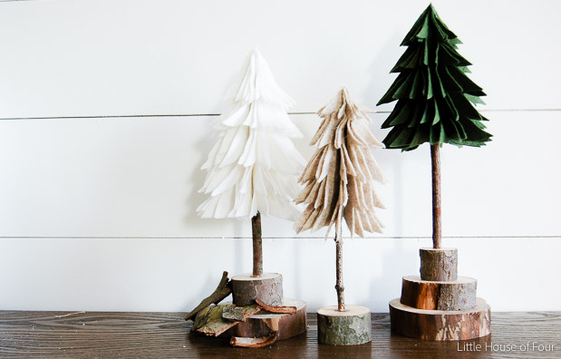 Rustic felt Christmas tree