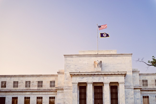 Federal reserve at sunset