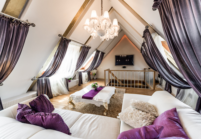 Ultra Violet Living Room Attic