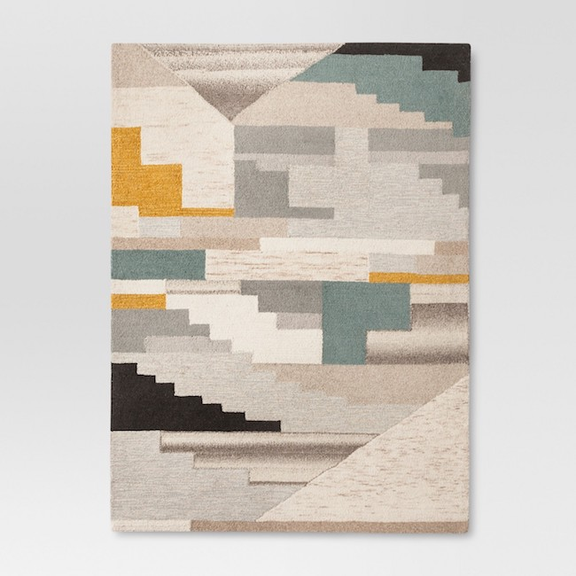 Abstract Tufted Area Rug