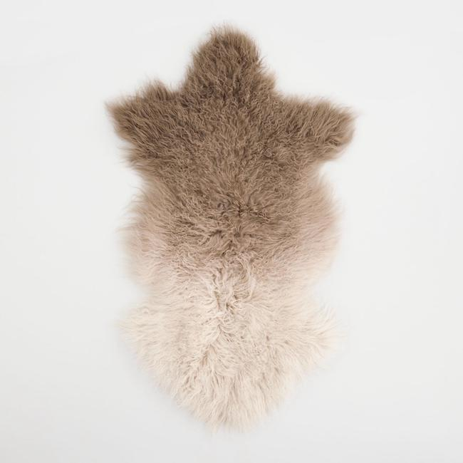 Brown Ombre Mongolian Sheepskin Rug