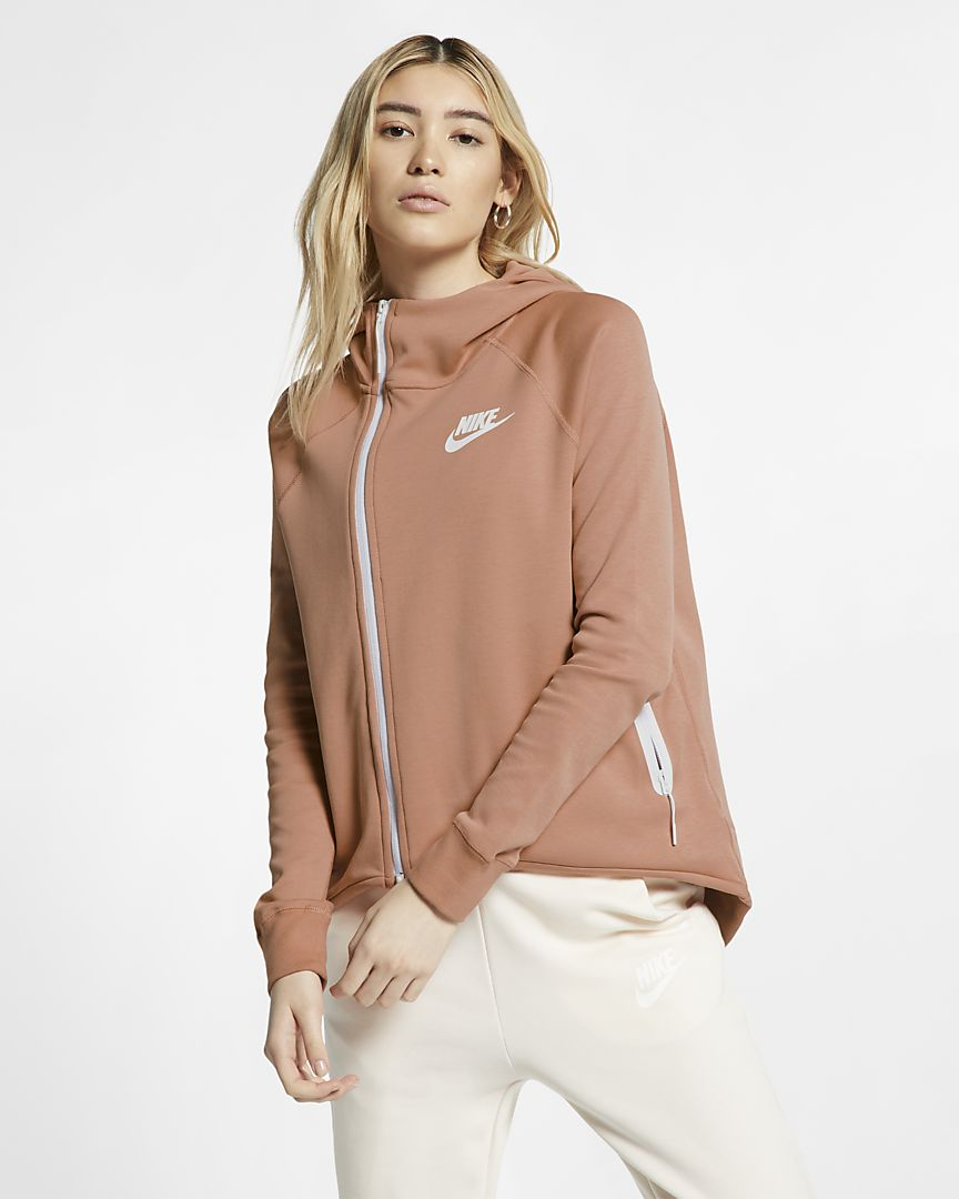 Rose gold colored zip-up cape