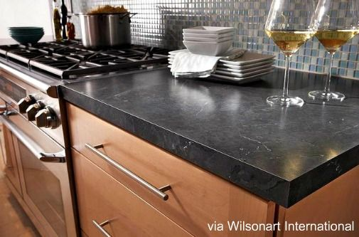 dark laminate countertop
