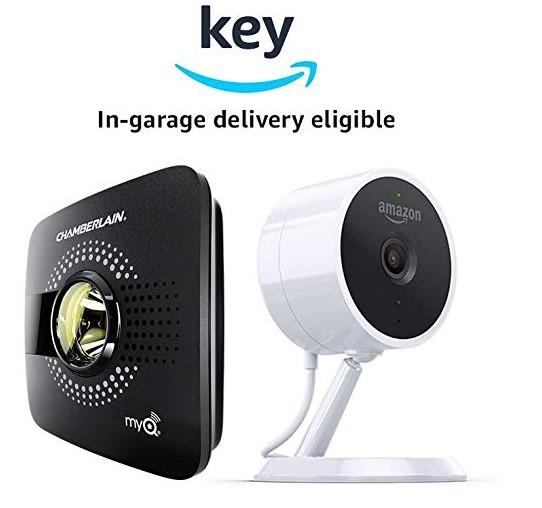 Chamberlain garage door opener and Amazon cloud cam