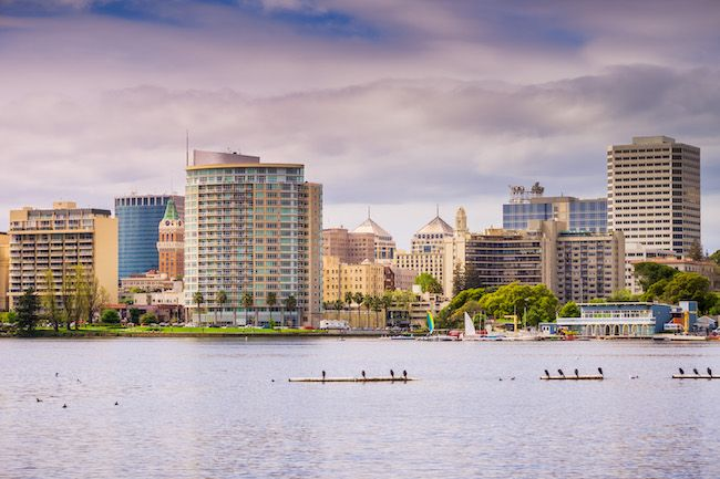 Most Expensive Cities In The US Oakland, California View Of Downtown Oakland From Lake Merritt