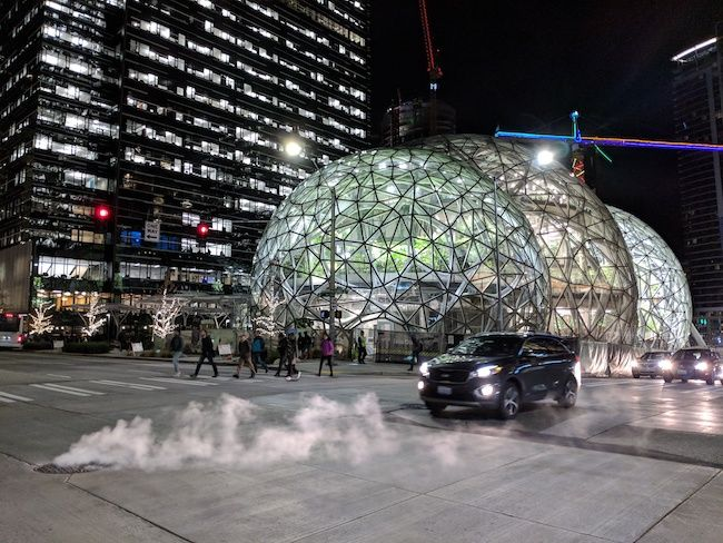 Most Expensive Cities In The US Seattle, Washington Biosphere Domes Outside Amazon Headquarters