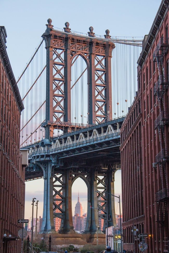 Most Expensive Cities In The US Brooklyn, New York View Of The Manhattan Bridge From DUMBO