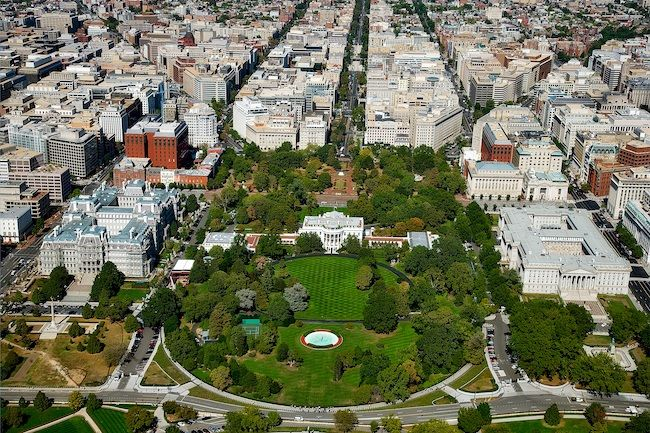Most Expensive Cities In The US Washington, District of Columbia Aerial View Of The White House And Foggy Bottom