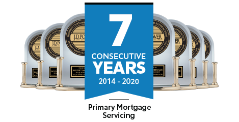 J.D. Power - 7 Consecutive Years - Primary Mortgage Servicing