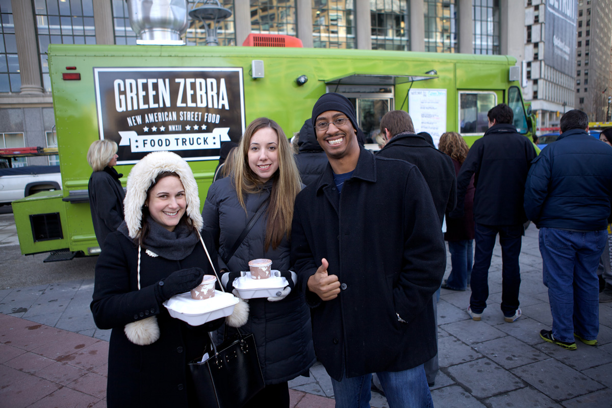 Lunch Time With The Food Trucks, Green Zebra