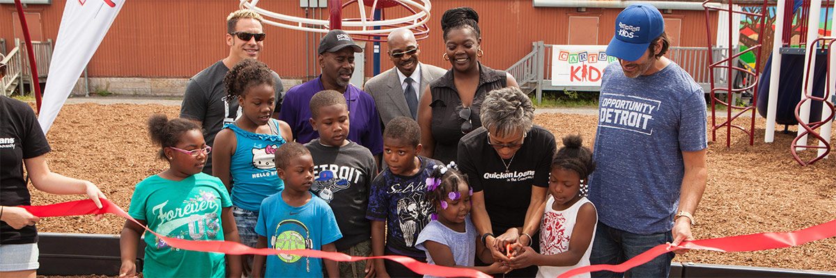 Quicken Loans And Carter's Kids Partner On New Playground Development In Detroit's Osborn Neighborhood