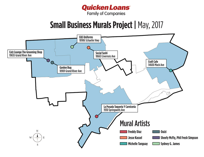 Small Business Murlas Project Map