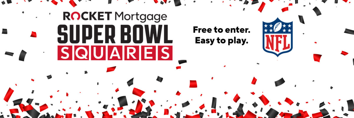 Rocket Mortgage Super Bowl Squares Sweepstakes Returns For Super Bowl LV After Awarding $1.75 Million In Last Year's Big Game