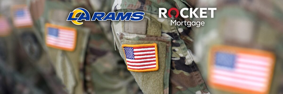 Los Angeles Rams And Rocket Mortgage Kick Off Partnership By Supporting Local Veterans