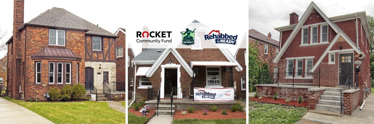Rocket Community Fund, City Of Detroit Invest $5 Million In Rehabbed & Ready Program, Creating Pipeline Of 200 Move-In Ready Homes Across Detroit